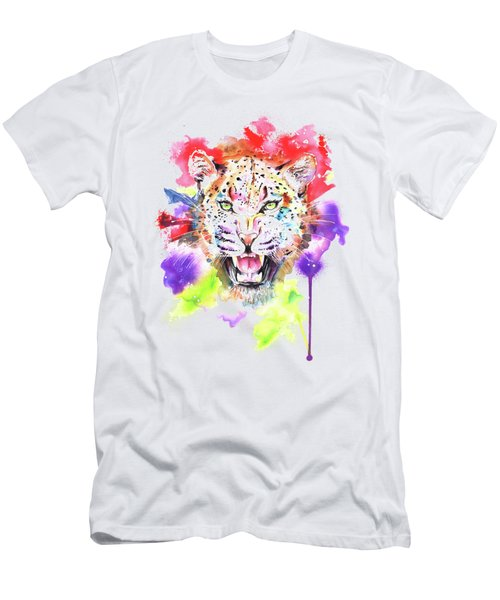 Leopard Men's T-Shirt (Slim Fit) by Isabel Salvador