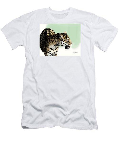Leopard Men's T-Shirt (Slim Fit) by Walter Chamberlain