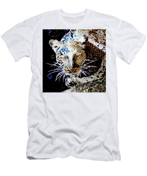 Leopard Men's T-Shirt (Slim Fit) by Zedi