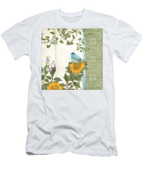 Les Magnifiques Fleurs Iv - Secret Garden Men's T-Shirt (Slim Fit) by Audrey Jeanne Roberts