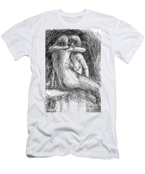Lesbian Sketches  1 Men's T-Shirt (Athletic Fit)