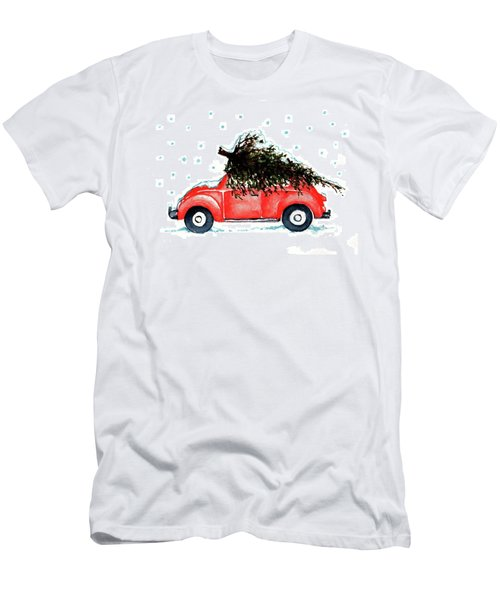Let It Snow Men's T-Shirt (Slim Fit) by Heidi Kriel