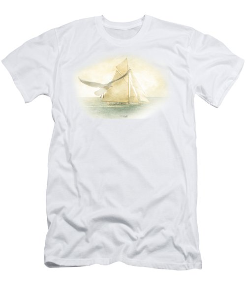 Men's T-Shirt (Slim Fit) featuring the painting Let Your Spirit Soar by Chris Armytage