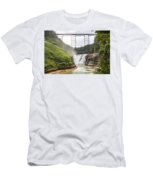 Letchworth Upper Falls Men's T-Shirt (Athletic Fit)