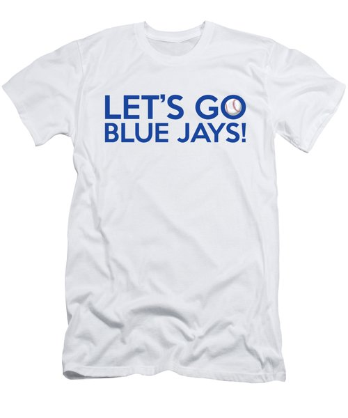 Let's Go Blue Jays Men's T-Shirt (Slim Fit) by Florian Rodarte