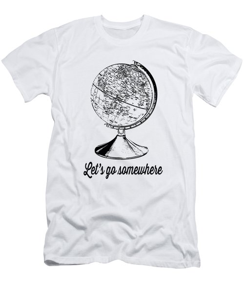 Let's Go Somewhere Tee Men's T-Shirt (Athletic Fit)