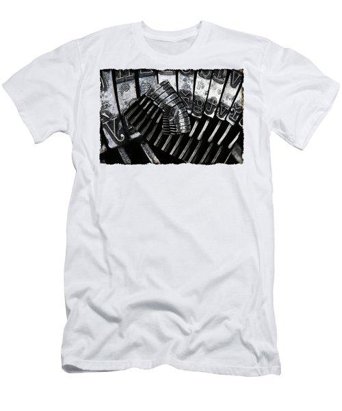 Letters Men's T-Shirt (Slim Fit) by Michal Boubin