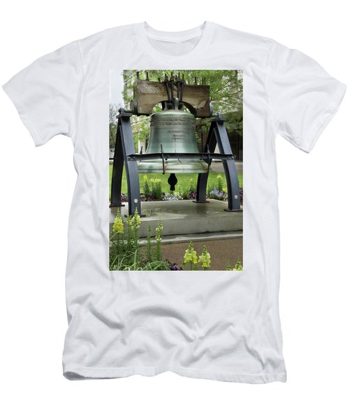 Men's T-Shirt (Slim Fit) featuring the photograph Liberty Bell Replica by Mike Eingle