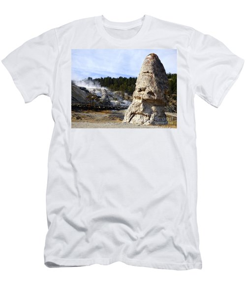 Liberty Cap At Mammoth Hot Springs Men's T-Shirt (Athletic Fit)
