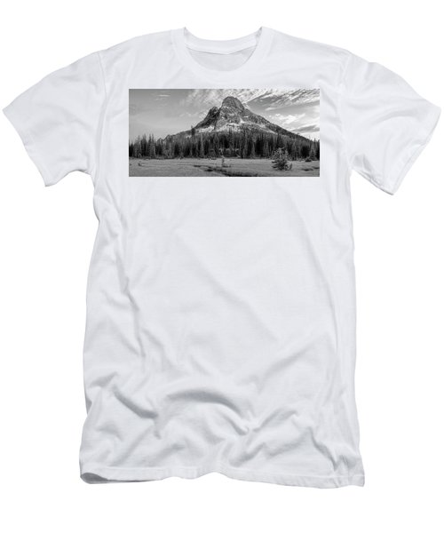 Men's T-Shirt (Slim Fit) featuring the photograph Liberty Mountain At Sunset by Jon Glaser