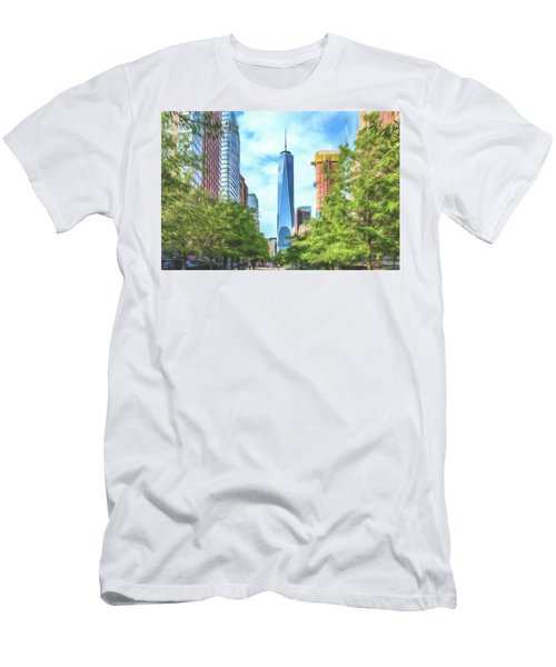 Liberty Tower Men's T-Shirt (Athletic Fit)