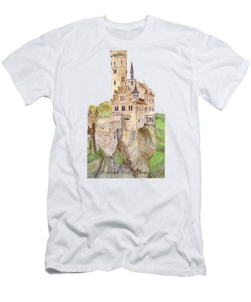 Lichtenstein Castle Men's T-Shirt (Slim Fit)