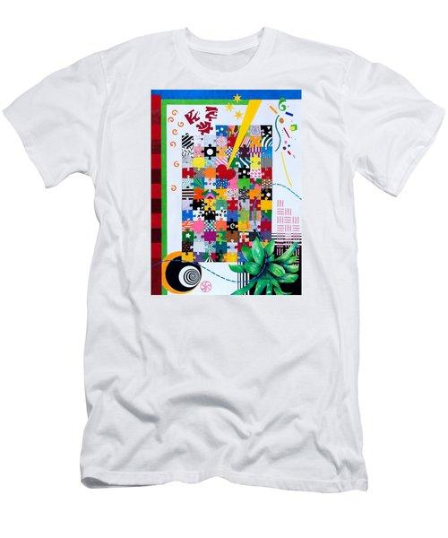 Life Is A Puzzle Men's T-Shirt (Slim Fit) by Thomas Gronowski