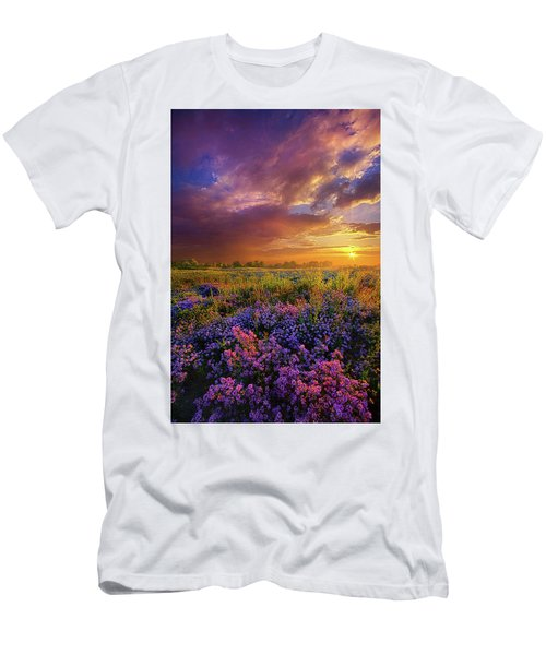 Life Is Measured In Moments Men's T-Shirt (Slim Fit) by Phil Koch
