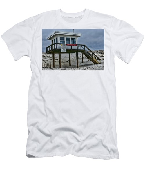 Lifeguard Station 1 Men's T-Shirt (Slim Fit) by Paul Ward