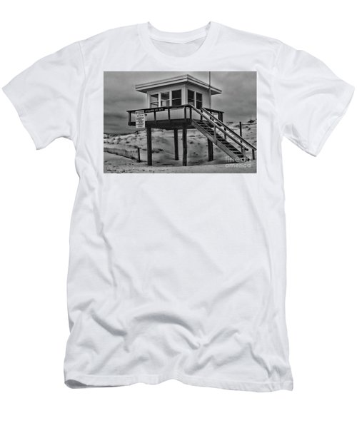 Lifeguard Station 2 In Black And White Men's T-Shirt (Slim Fit) by Paul Ward