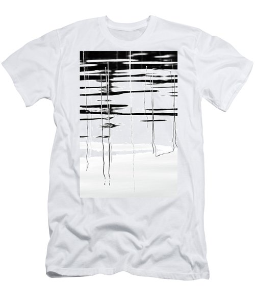 Light And Shadow Reeds Abstract Men's T-Shirt (Athletic Fit)