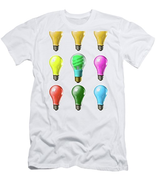 Light Bulbs Of A Different Color Men's T-Shirt (Athletic Fit)