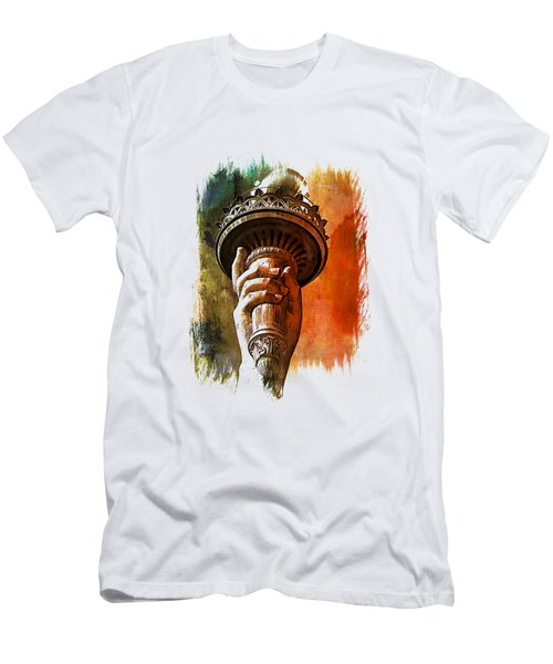 Light The Path Art 1 Men's T-Shirt (Slim Fit) by Di Designs