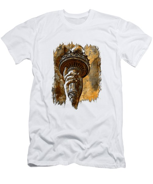 Light The Path Earthy 3 Dimensional Men's T-Shirt (Athletic Fit)