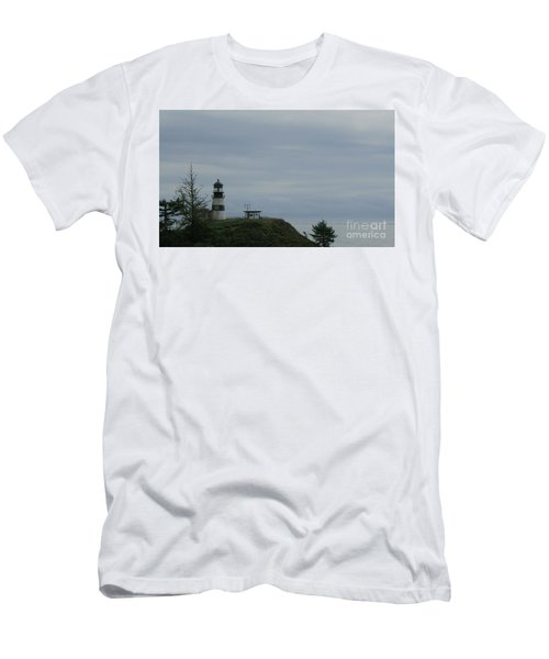 Lighthouse At Cape Disappointment Men's T-Shirt (Athletic Fit)