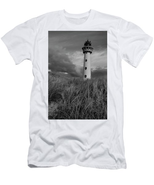 Lighthouse Bw Men's T-Shirt (Athletic Fit)
