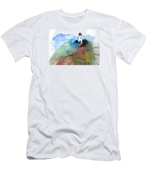 Lighthouse II - Original Sold Men's T-Shirt (Slim Fit) by Therese Alcorn