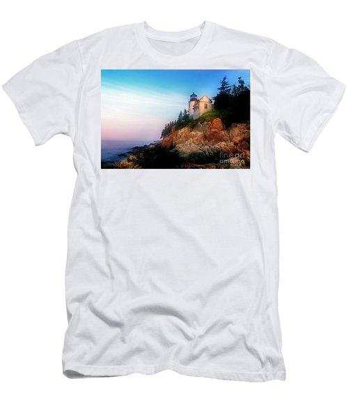 Lighthouse Sunrise Men's T-Shirt (Athletic Fit)