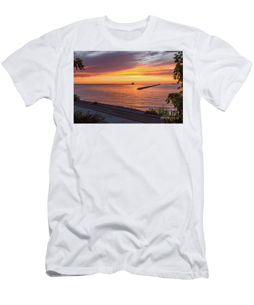 Lighthouse Sunset Men's T-Shirt (Athletic Fit)