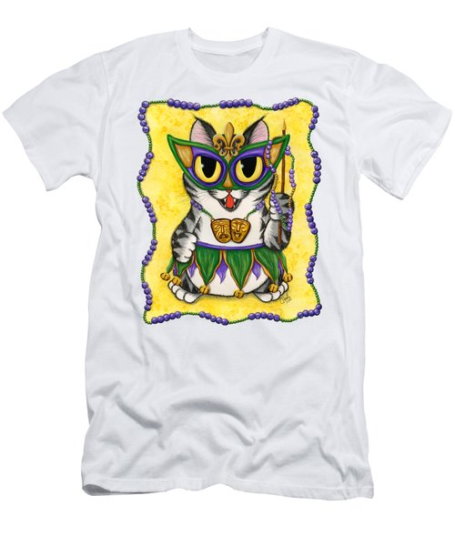 Lil Mardi Gras Cat Men's T-Shirt (Athletic Fit)
