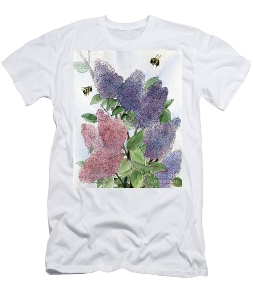 Lilacs And Bees Men's T-Shirt (Athletic Fit)