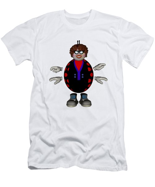 Lily The Ladybug Men's T-Shirt (Slim Fit) by Steve Kelly