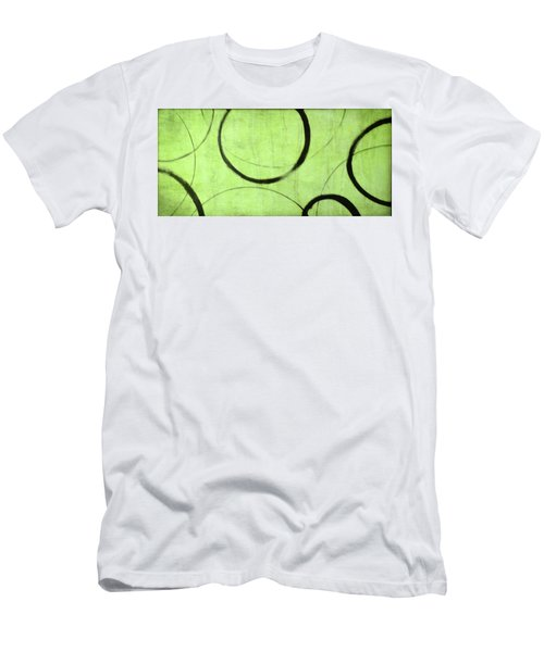 Men's T-Shirt (Slim Fit) featuring the painting Lime Ensos by Julie Niemela