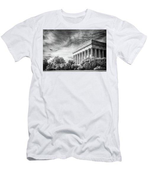 Lincoln Memorial Men's T-Shirt (Slim Fit) by Paul Seymour