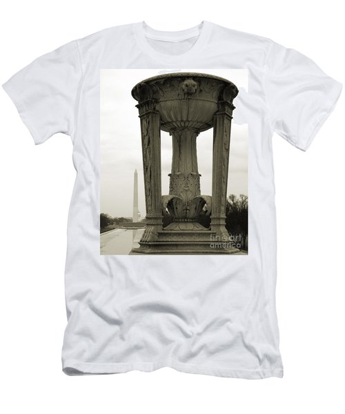 Men's T-Shirt (Athletic Fit) featuring the photograph Lincoln To Washington by Angela DeFrias