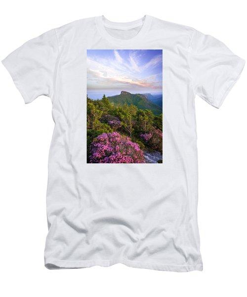 Linville Gorge Spring Bloom Men's T-Shirt (Slim Fit) by Serge Skiba