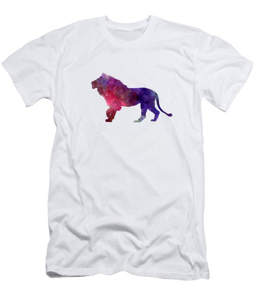 Lion 01 In Watercolor Men's T-Shirt (Slim Fit) by Pablo Romero