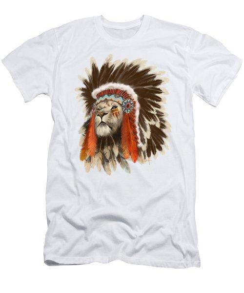 Lion Chief Men's T-Shirt (Athletic Fit)