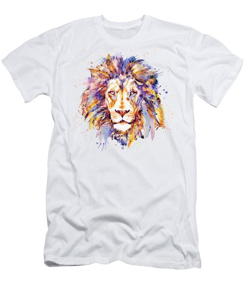 Lion Head Men's T-Shirt (Slim Fit) by Marian Voicu