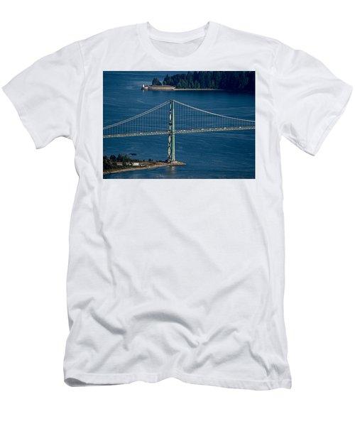Lions Gate Bridge And Brockton Point Men's T-Shirt (Athletic Fit)