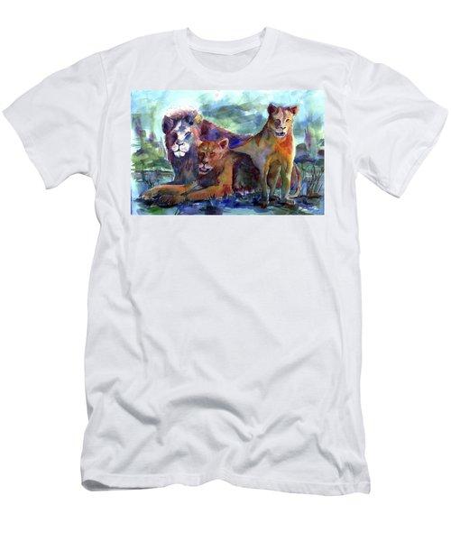 Lion's Play Men's T-Shirt (Athletic Fit)