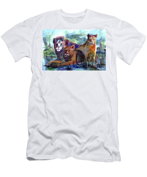 Lion's Play Men's T-Shirt (Athletic Fit)