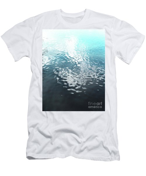 Men's T-Shirt (Slim Fit) featuring the photograph Liquid Blue by Rebecca Harman