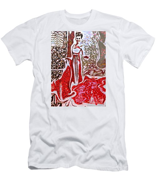 Liquid Red Men's T-Shirt (Athletic Fit)