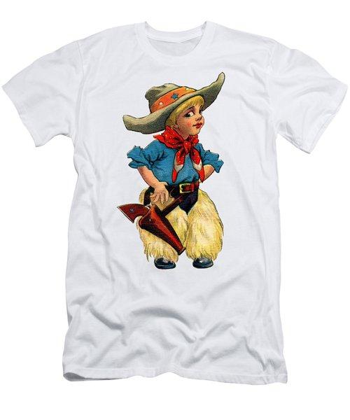 Little Cowboy T Shirt Men's T-Shirt (Athletic Fit)