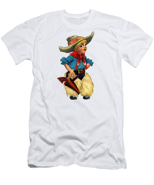 Little Cowboy T Shirt Men's T-Shirt (Athletic Fit)