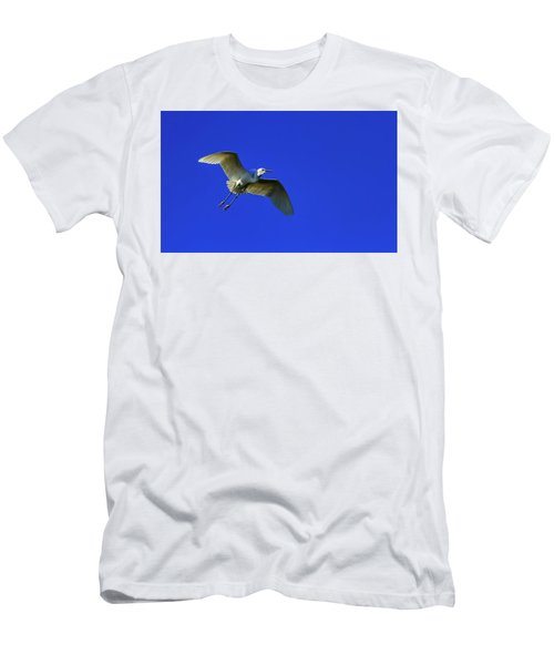 Little Egret, Egretta Garzetta Men's T-Shirt (Athletic Fit)