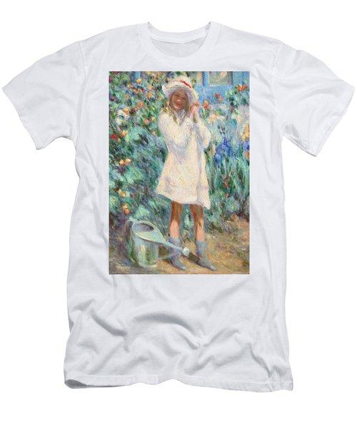 Little Girl With Roses / Detail Men's T-Shirt (Slim Fit) by Pierre Van Dijk