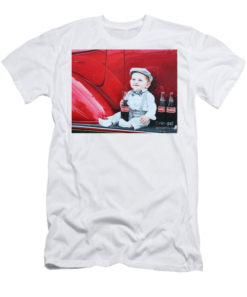 Men's T-Shirt (Slim Fit) featuring the painting Little Mason by Mike Ivey