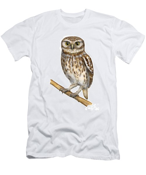 Little Owl Or Minerva's Owl Athene Noctua - Goddess Of Wisdom- Chouette Cheveche- Nationalpark Eifel Men's T-Shirt (Athletic Fit)
